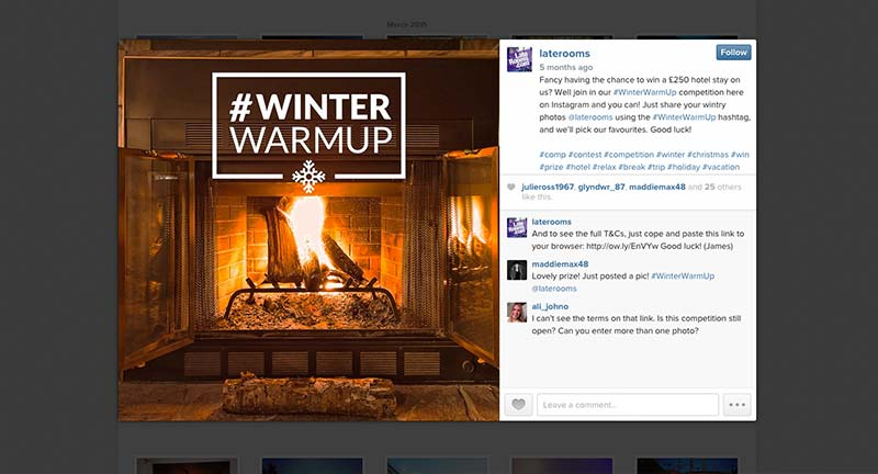 Big Winter Warm-Up Instagram